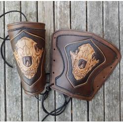 Armskenor Läder Hundskalle,...