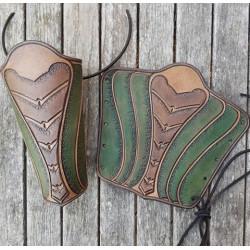Armskenor Läder Alv Grön, par