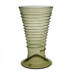 Ölglas med glastrådsdekor...