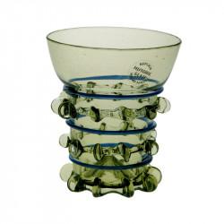 Glas med blå dekor 10cl