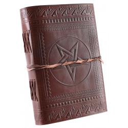 Läderbok Pentagram 21x14cm