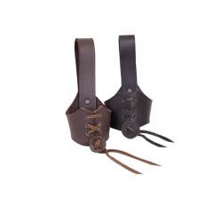 Hornhållare läder
