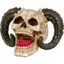 Dödskalle med bockhorn - 16 cm