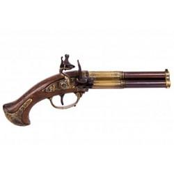 Pistol 3 pipig Flintlås...