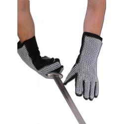 Läderhandskar med ringbrynja